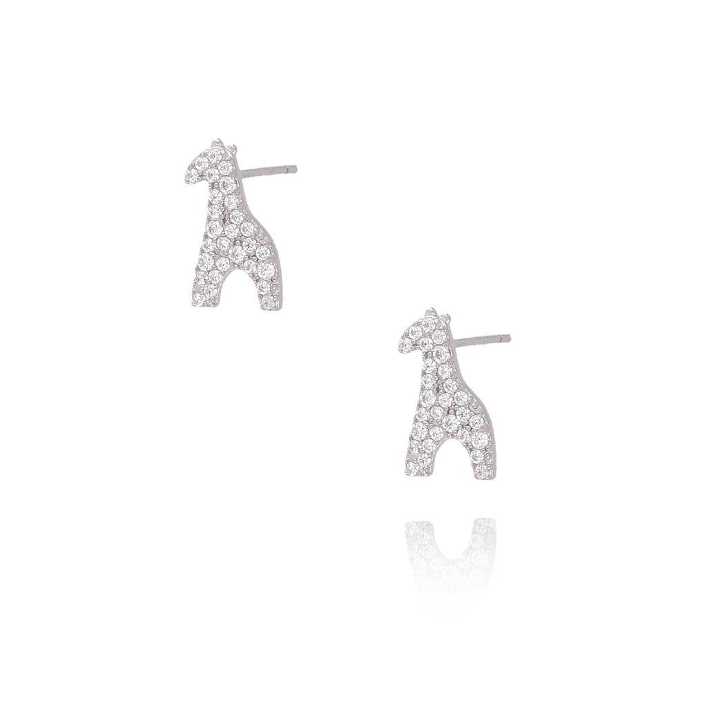Kolczyki srebrne żyrafy KGM0092