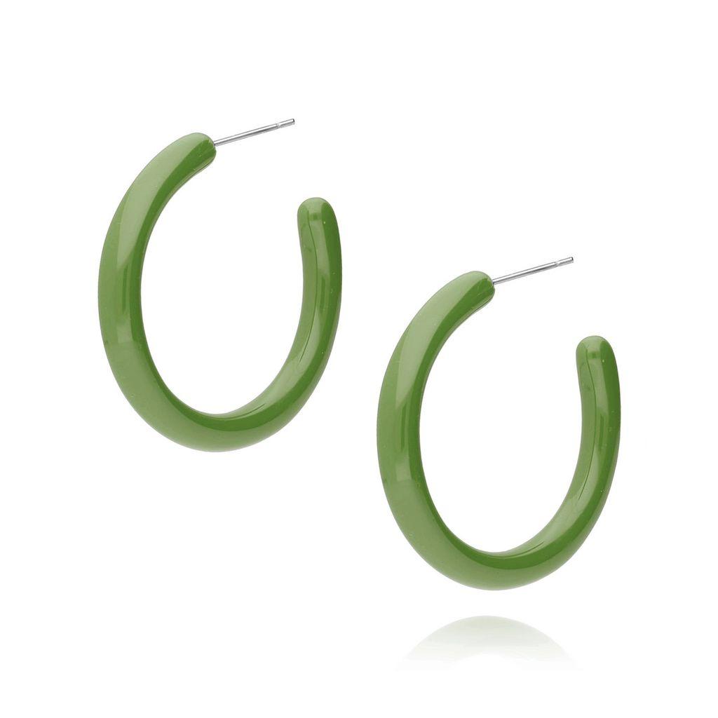 Kolczyki koła akrylowe zielony KKZ0062_6