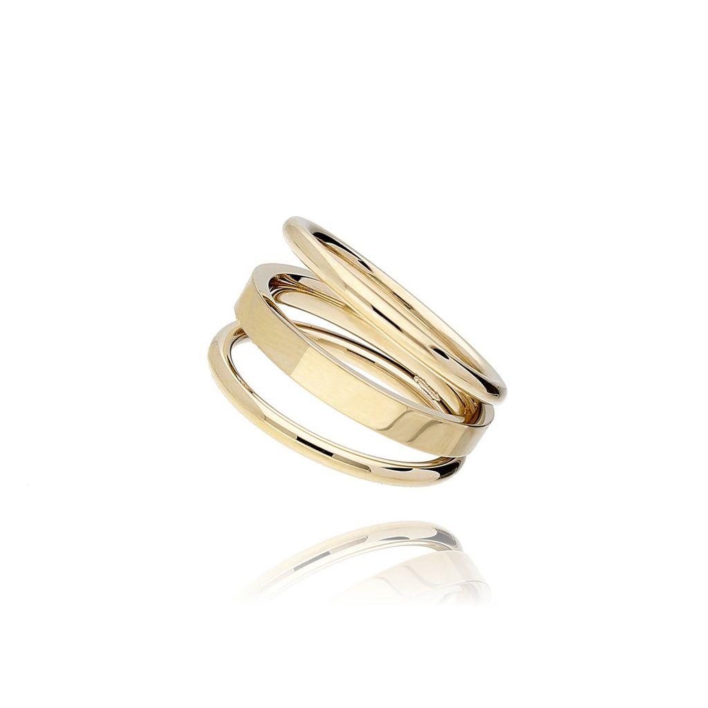 Pierścionek złoty ze stali szlachetnej PSA0008 rozmiar 14