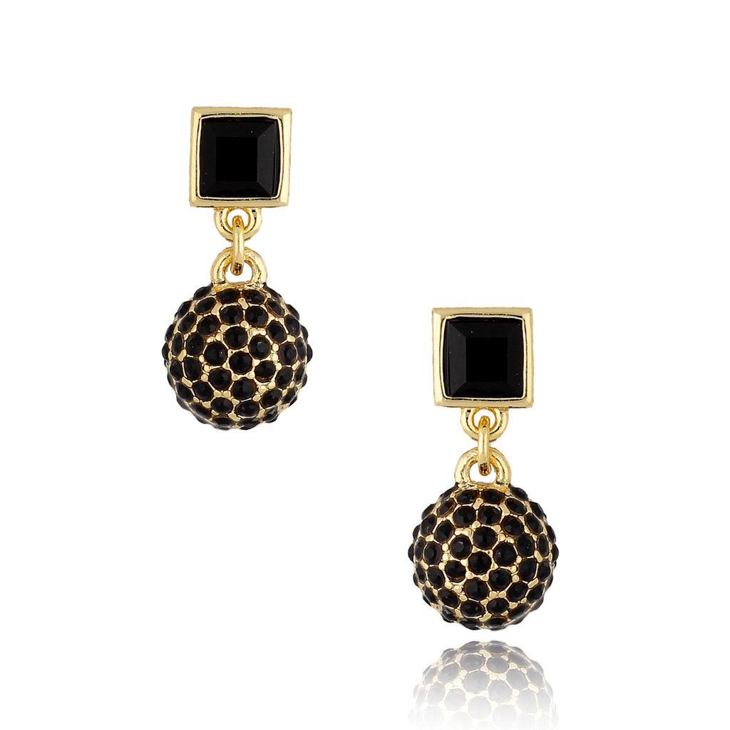 Kolczyki z kryształkami czarne KSS0848