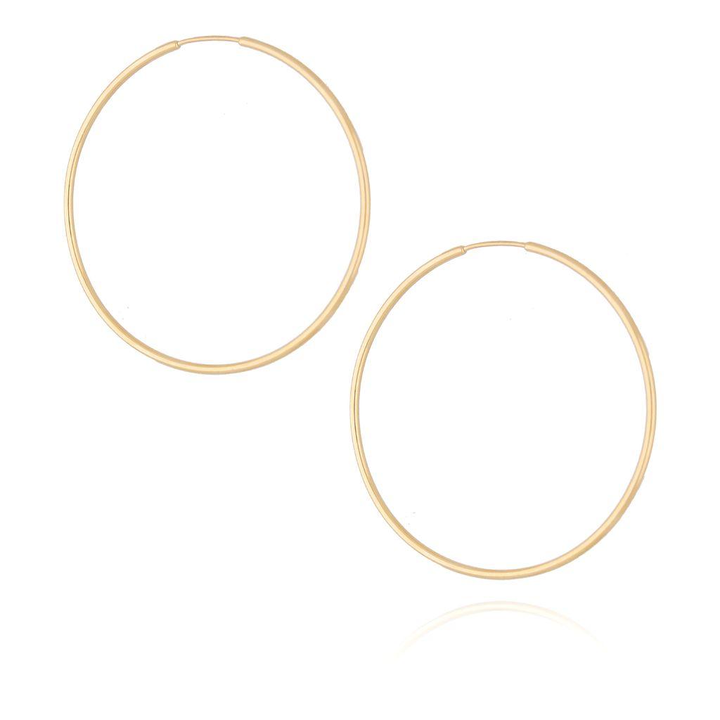 Kolczyki srebrne koła pozłacane KSE0055 4,5 cm