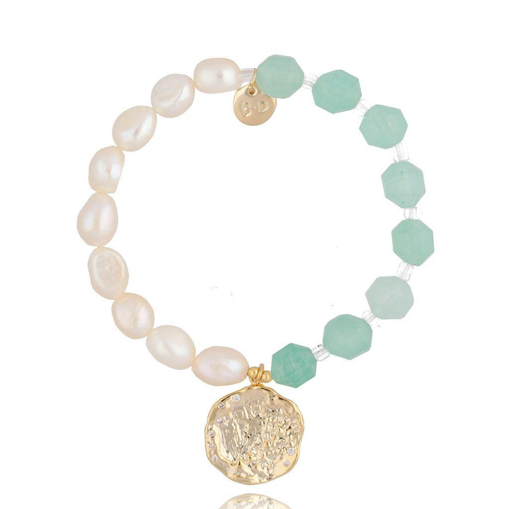 Bransoletka z perłami i kamieniami naturalnymi BPA0036