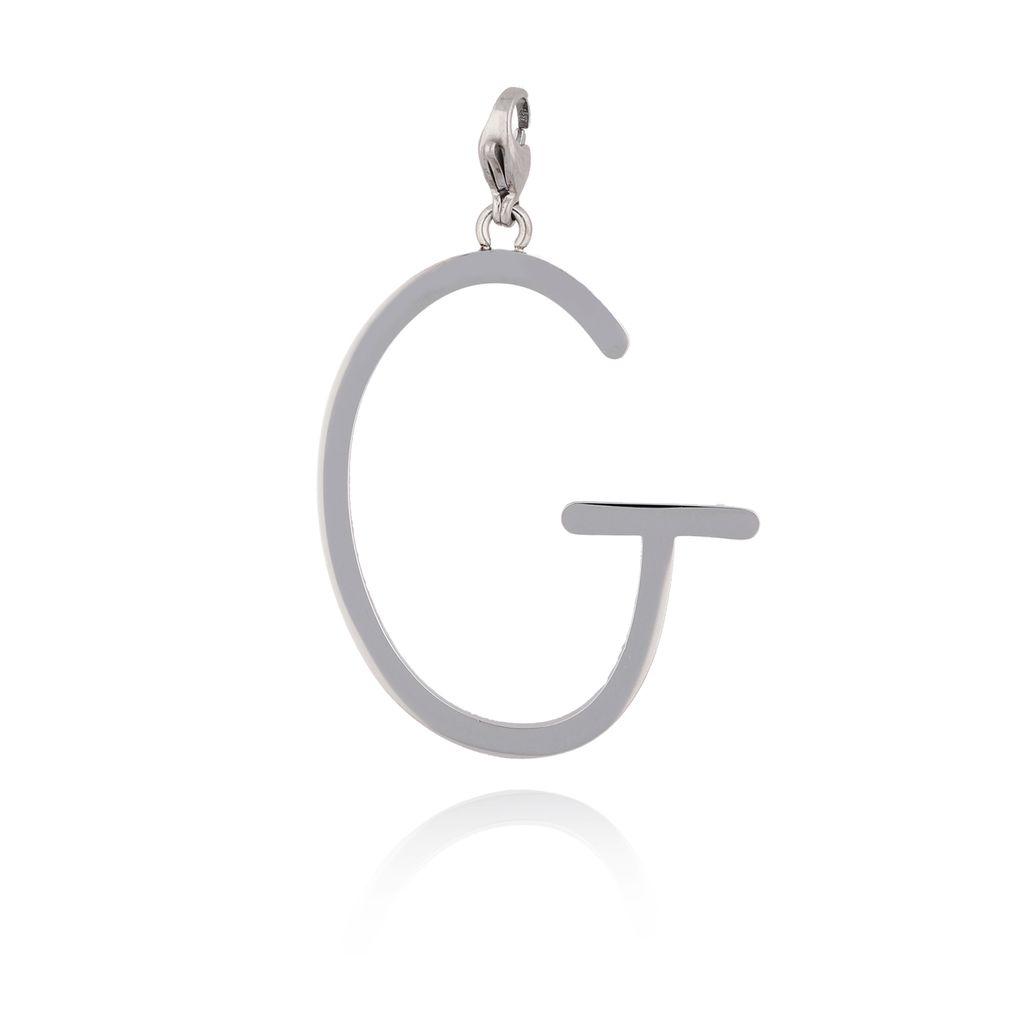 Zawieszka ze stali szlachetnej srebrna literka G Alphabet NAT0037