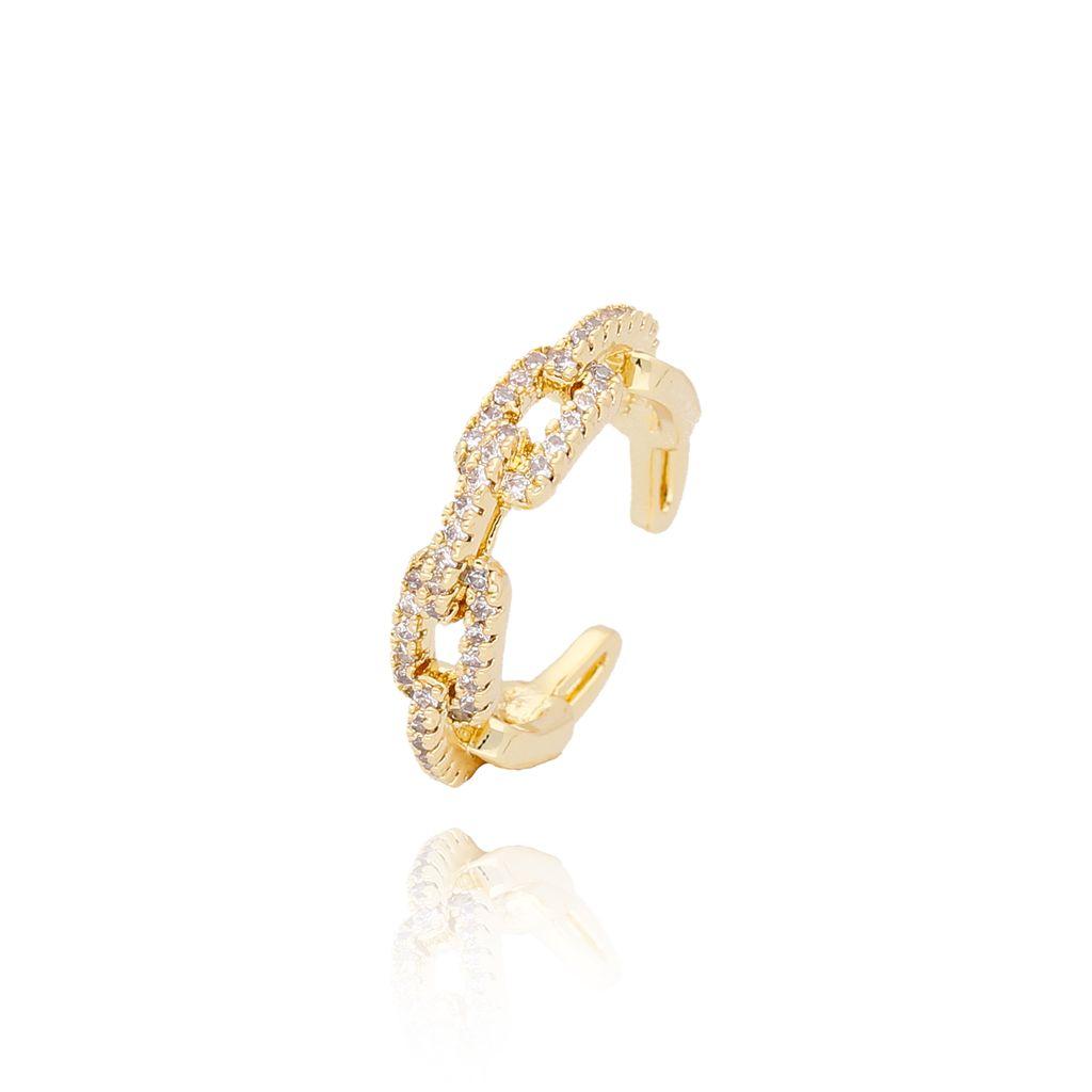 Pierścionek złoty pleciony z kryształkami PCO0001 rozmiar14