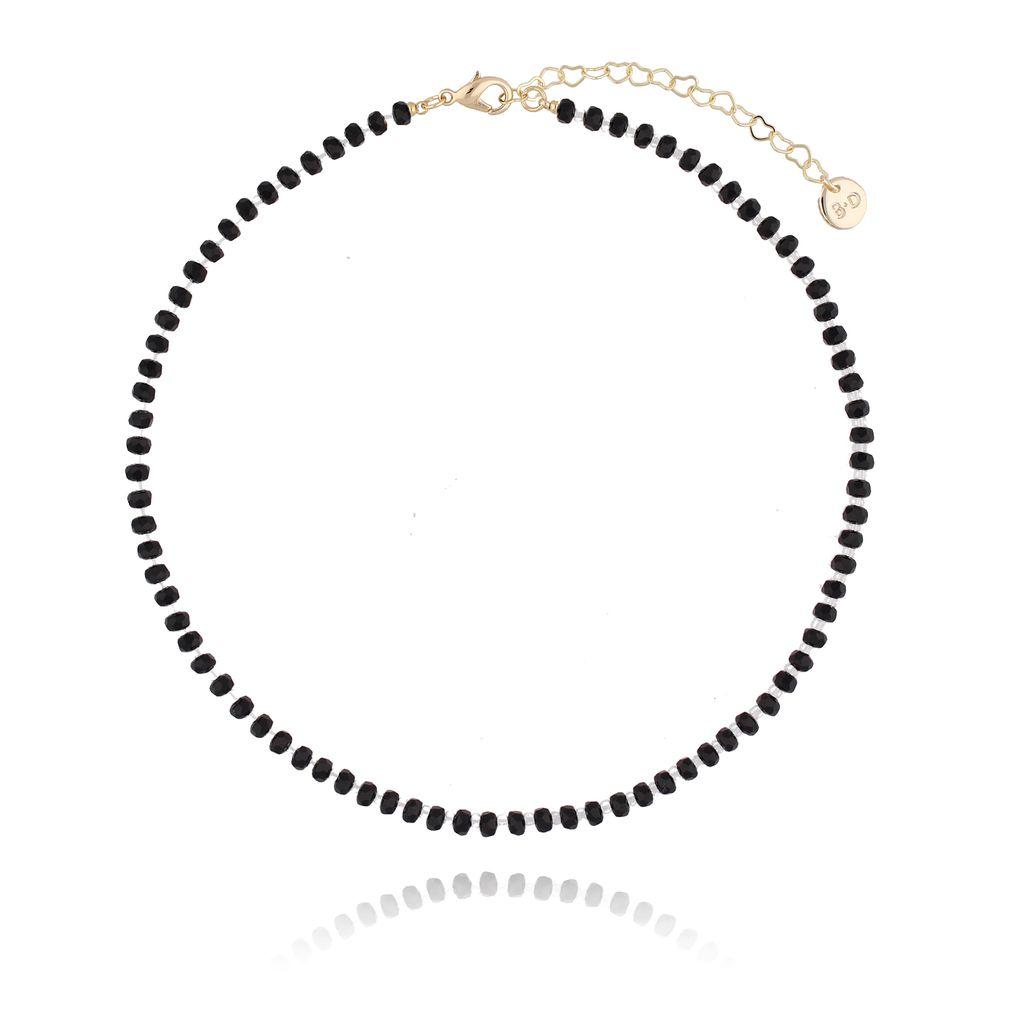 Naszyjnik z czarnymi kryształkami NTW0065