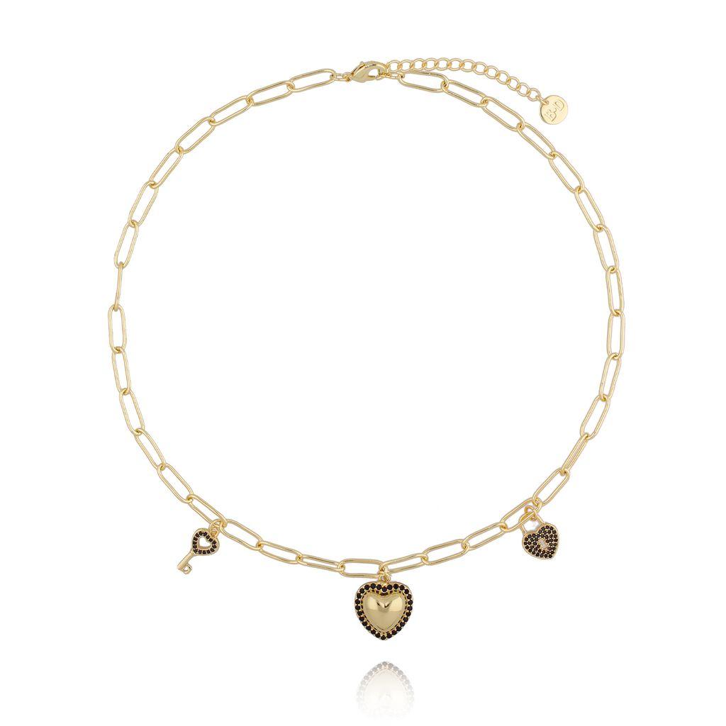 Naszyjnik złoty łańcuch z serduszkiem NRG0238