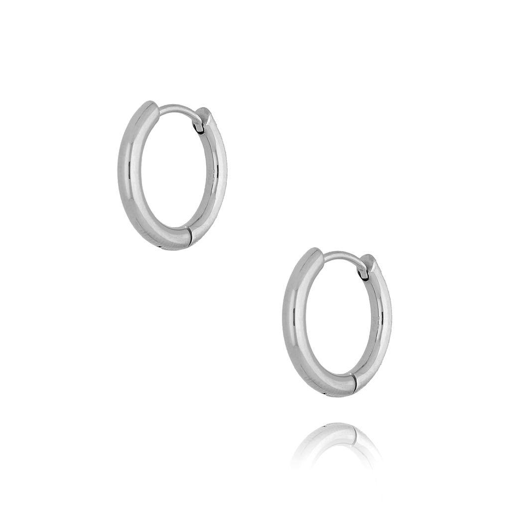 Kolczyki srebrne kółka średnie I KSA0136