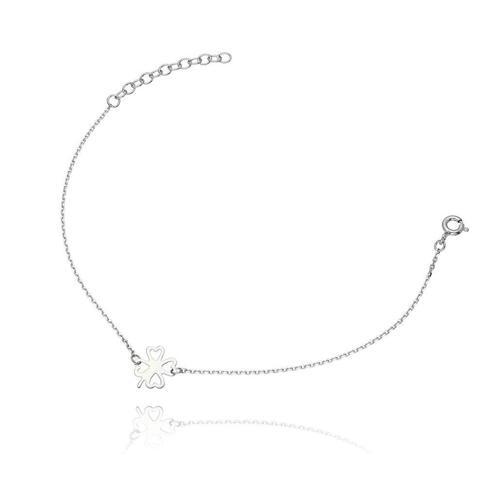Bransoletka ze srebra koniczynka BSE0006