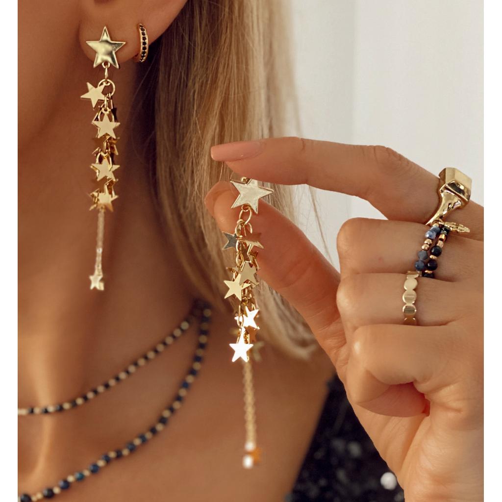 Kolczyki złote gwiazdki KRG0559