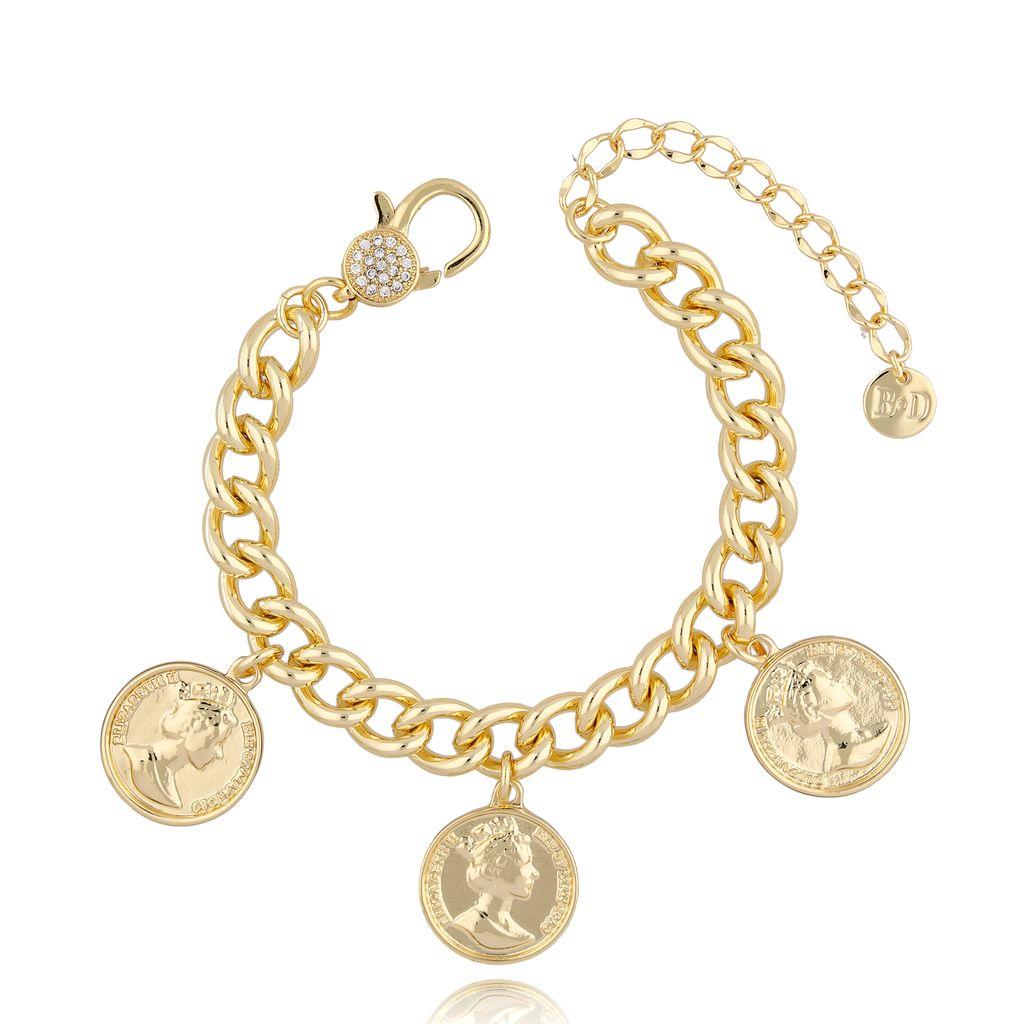 Bransoletka złota z monetami BRG0174