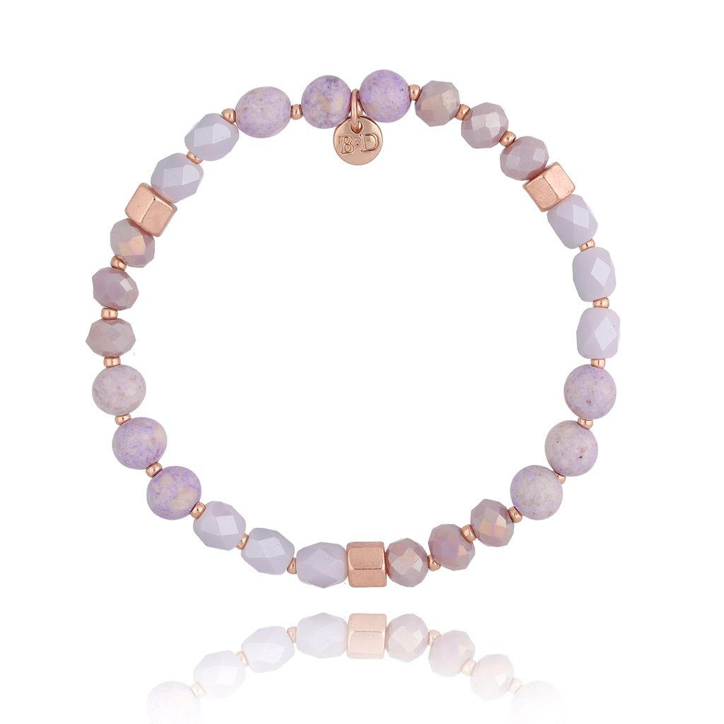 Bransoletka z kryształkami fioletowa BSC0818