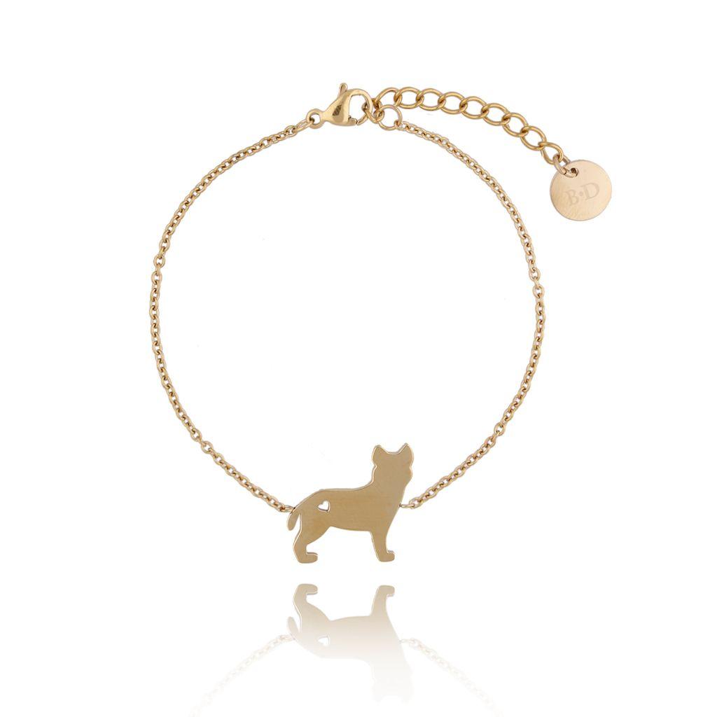 Bransoletka złota pies Hercules ze stali szlachetnej BPS0006