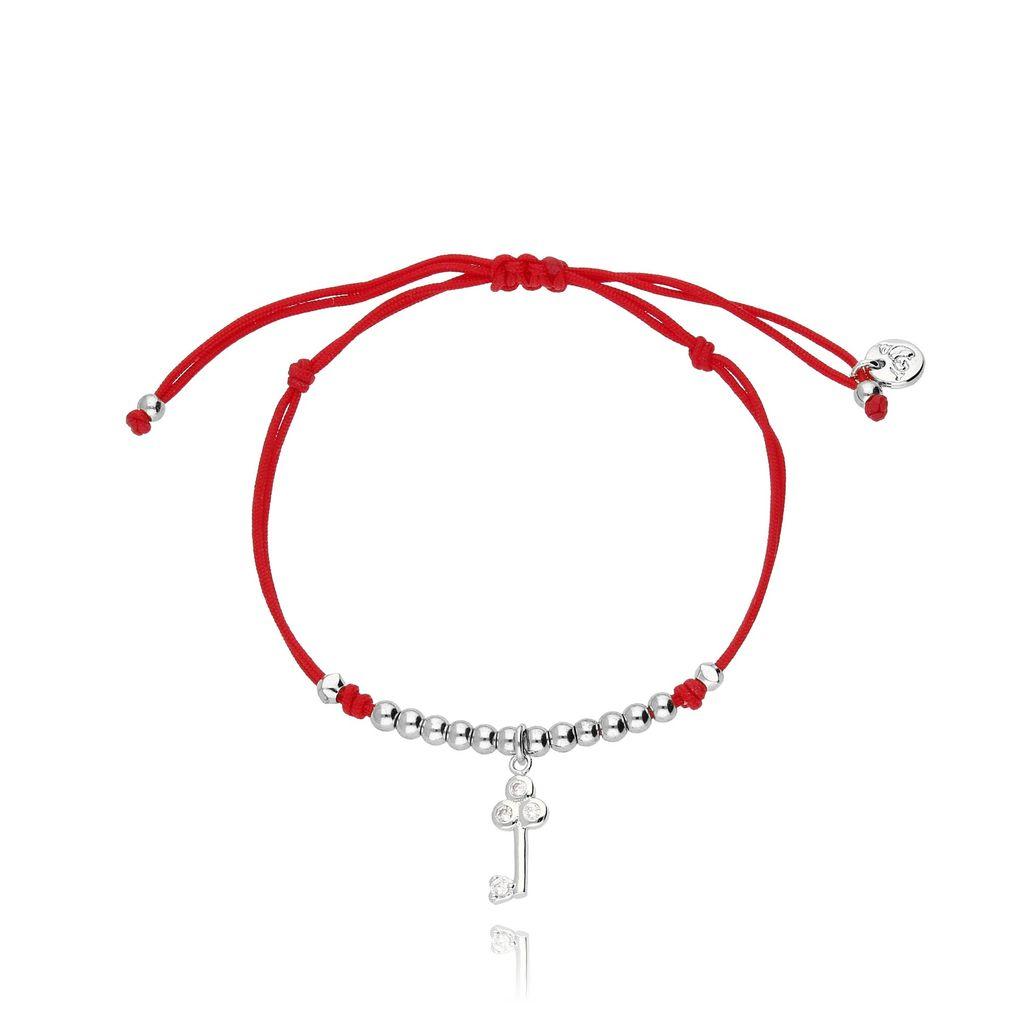 Bransoletka na sznurku czerwona - klucz BGL0224