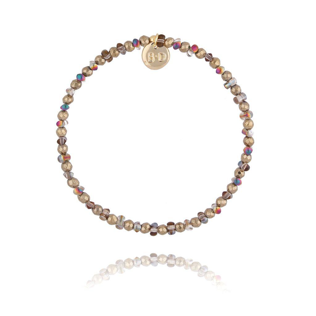 Bransoletka z jasno brązowymi kryształkami BTW0281