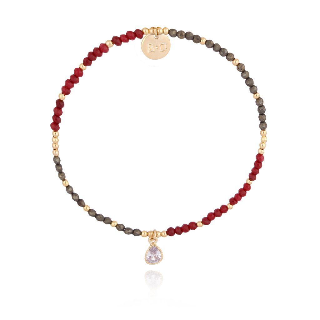 Bransoletka z rubinem i pirytem BTW0167