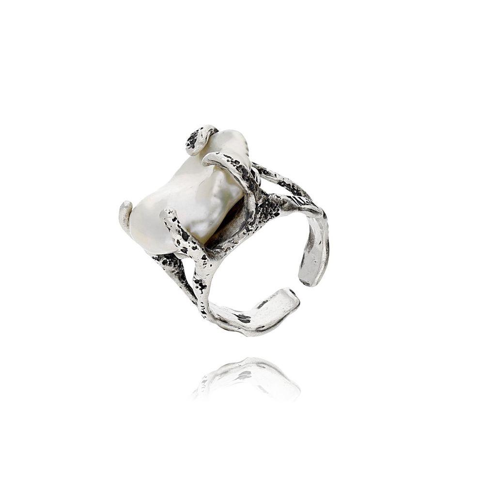 Pierścionek MOTYLE Selene z perłą PMO0040