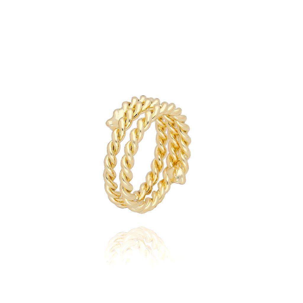 Pierścionek złoty pleciony PRG0085 rozmiar 11