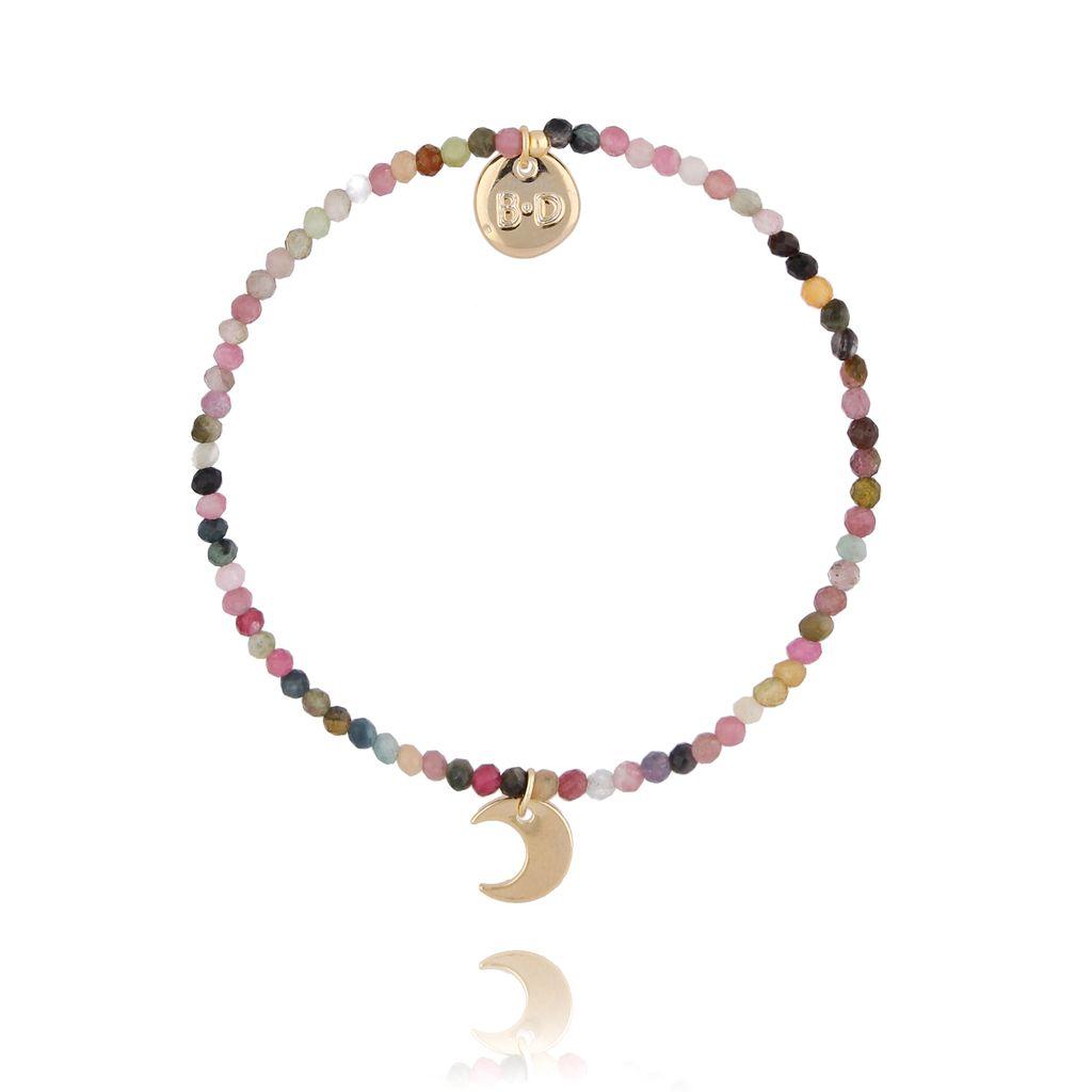 Bransoletka z kwarcem  i księżycem BTW0294