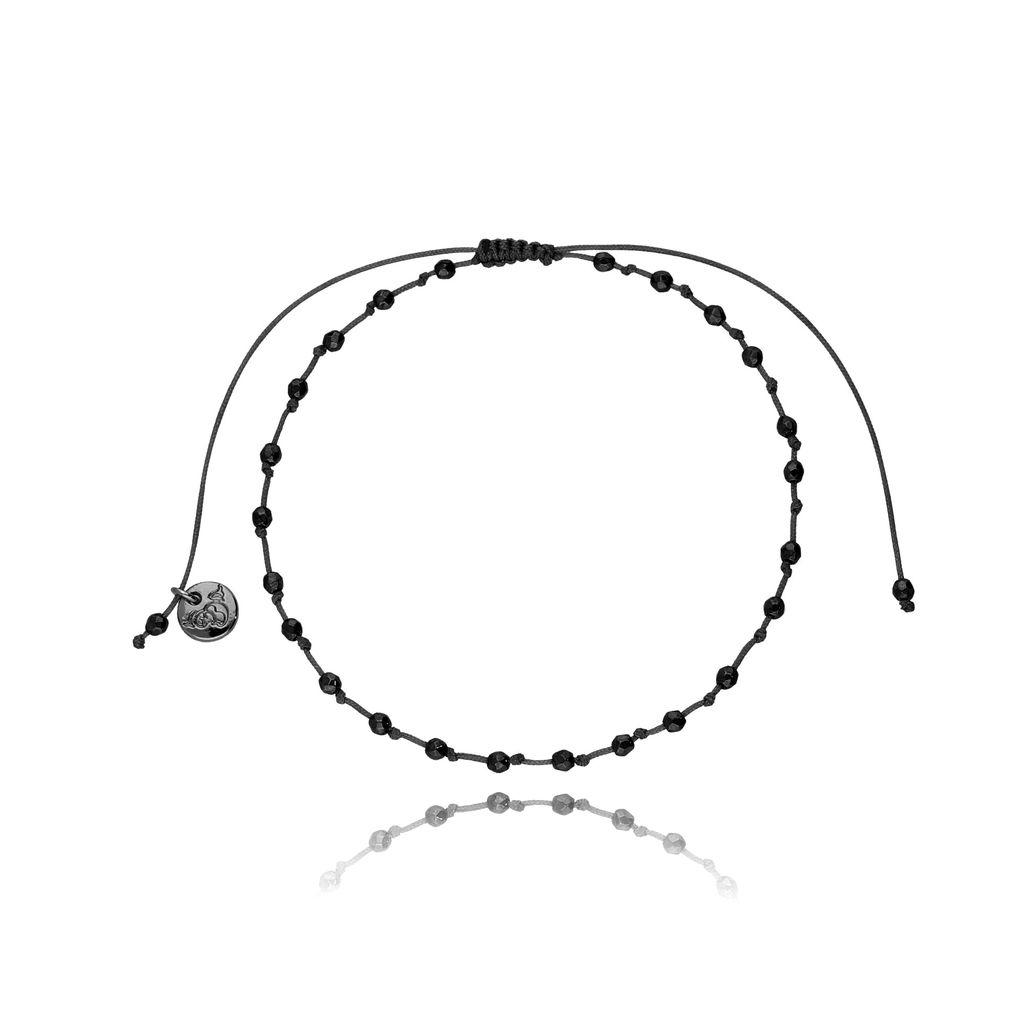 Bransoletka na sznurku z hematytem BSC0664
