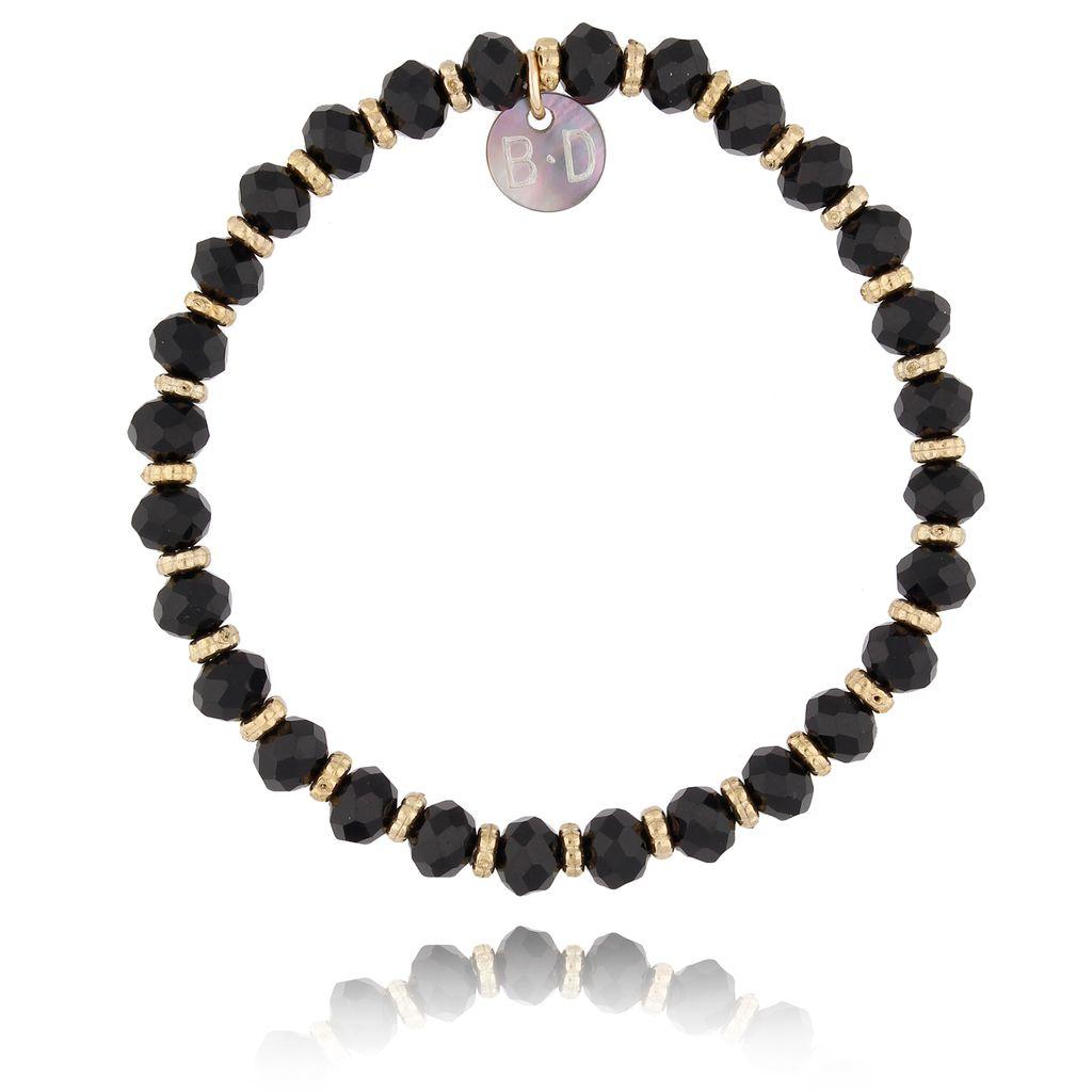 Bransoletka z granatowymi kryształkami BBL0082