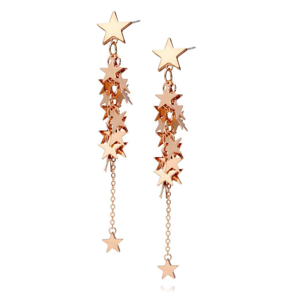 Kolczyki gwiazdki w kolorze różowego złota KRG0472