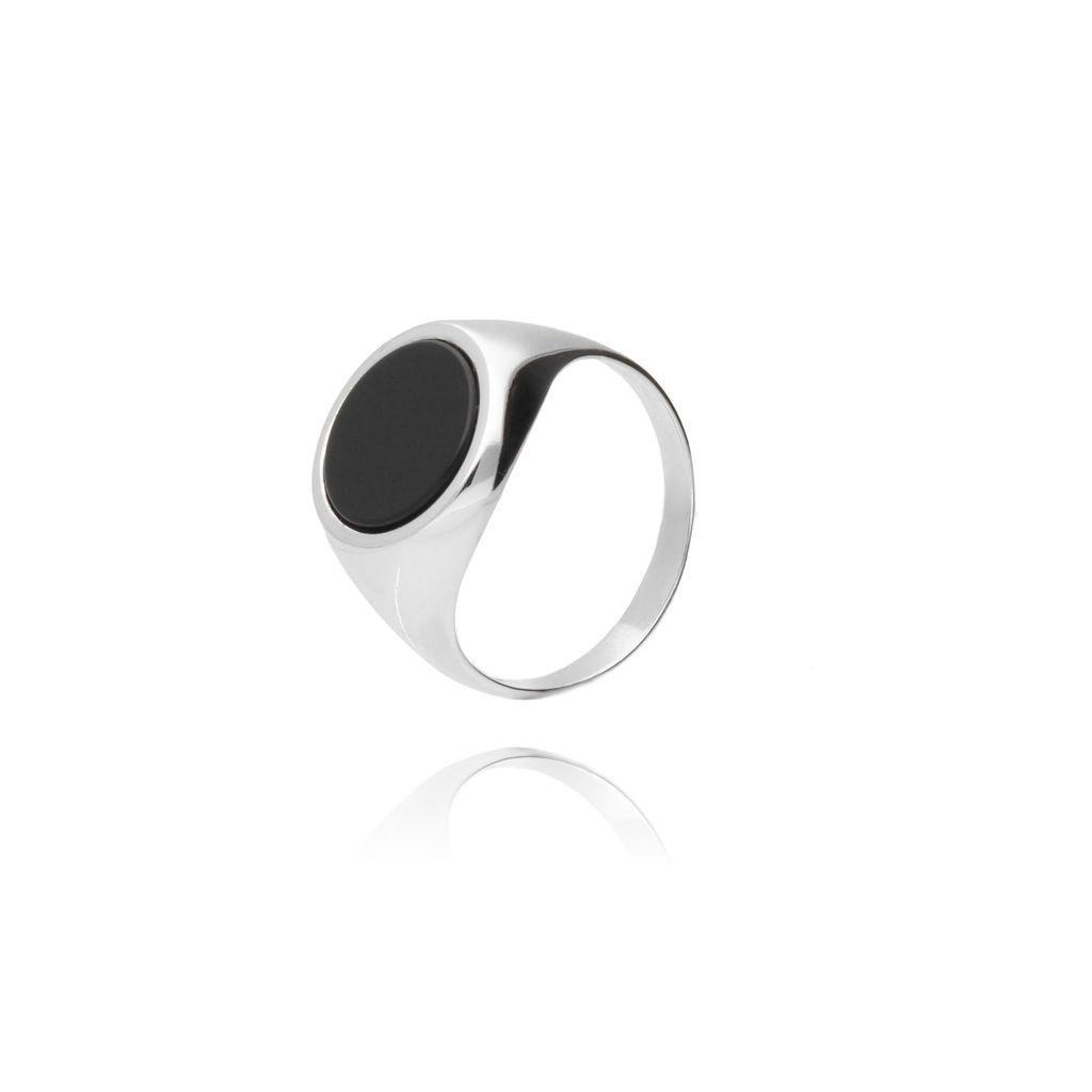 Pierścionek srebrny z kamieniem naturalnym PSE0002