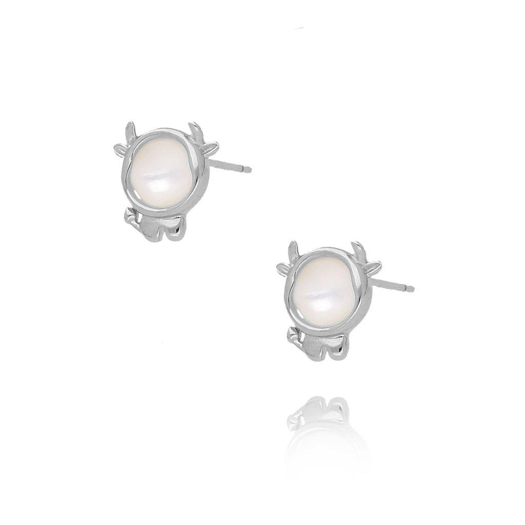 Kolczyki srebrne krówki KGM0087