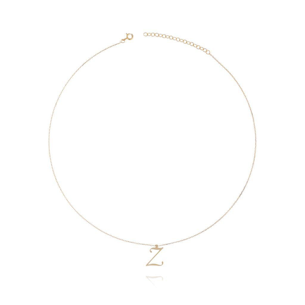 Naszyjnik srebrny pozłacany z literką Z NAT0102