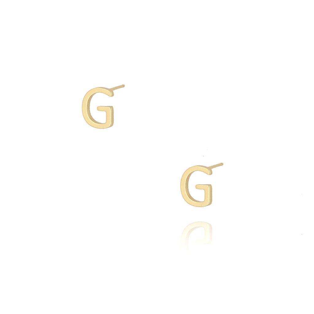 Kolczyki wkrętki z literką G złote KAT0007