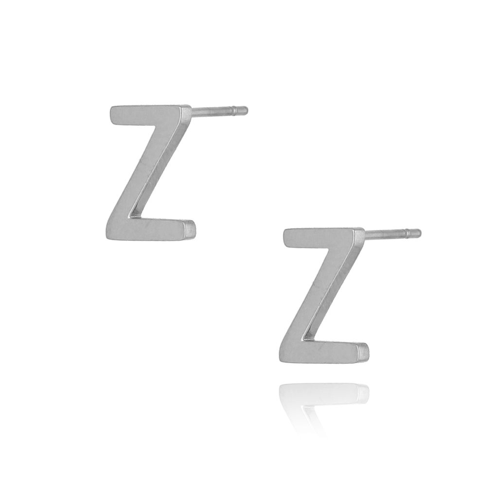 Kolczyki wkrętki srebrne z literką Z KAT0057