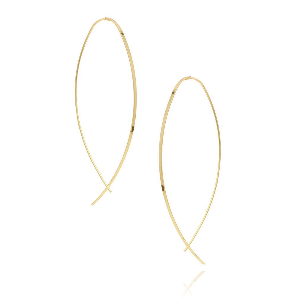 Kolczyki srebrne długie pozłacane KSE0020