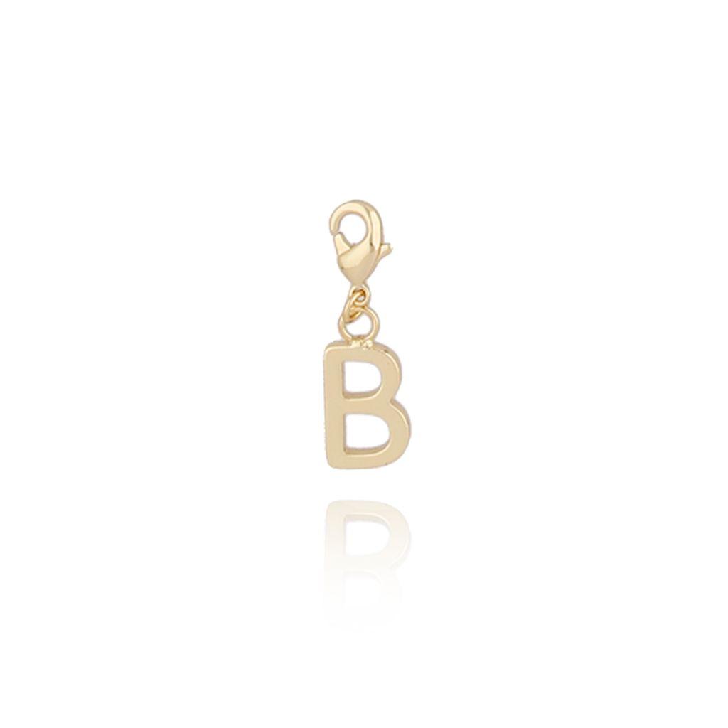 Charms złoty literką B NAT0169