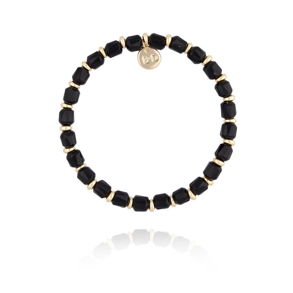 Bransoletka z czarnymi kryształkami BBL0160