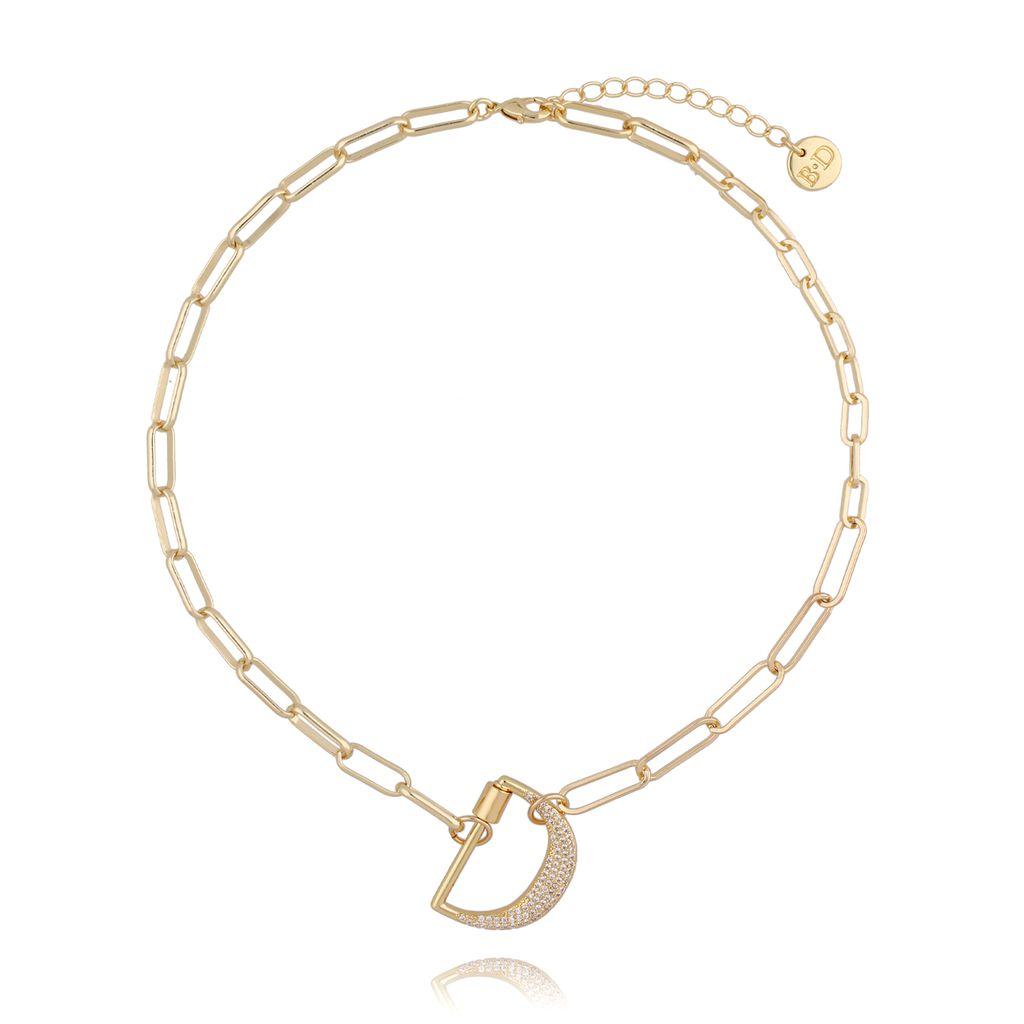 Naszyjnik złoty łańcuch z literą D NSL0012