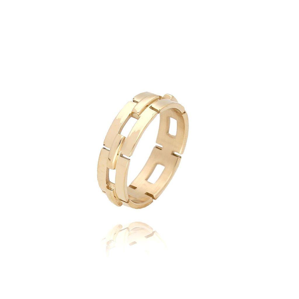 Pierścionek złoty ze stali szlachetnej PSA0056 Rozmiar 18