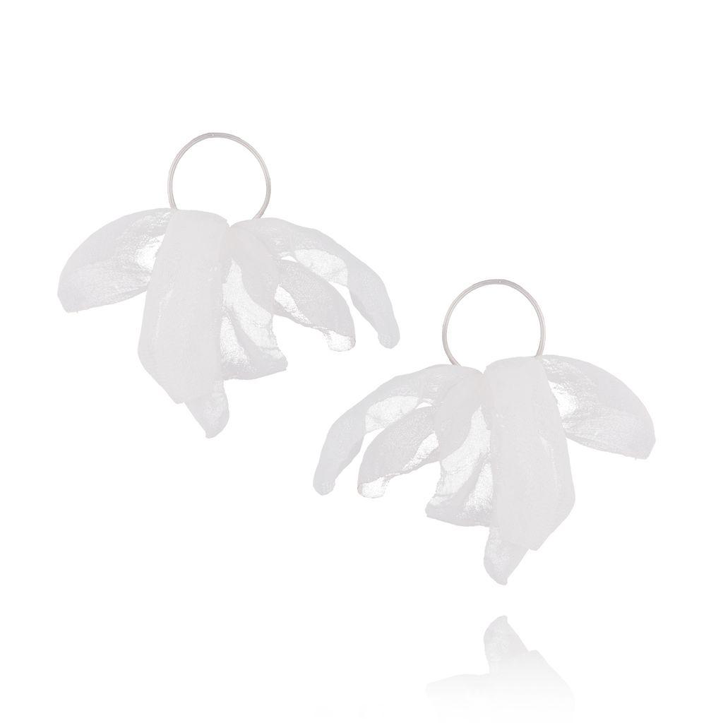 Kolczyki Blossom białe KBL0352