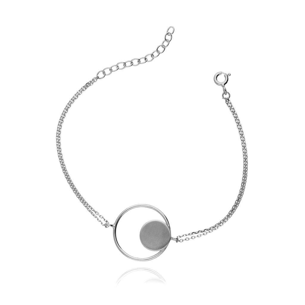 Bransoletka srebrna z kołem BSE0062