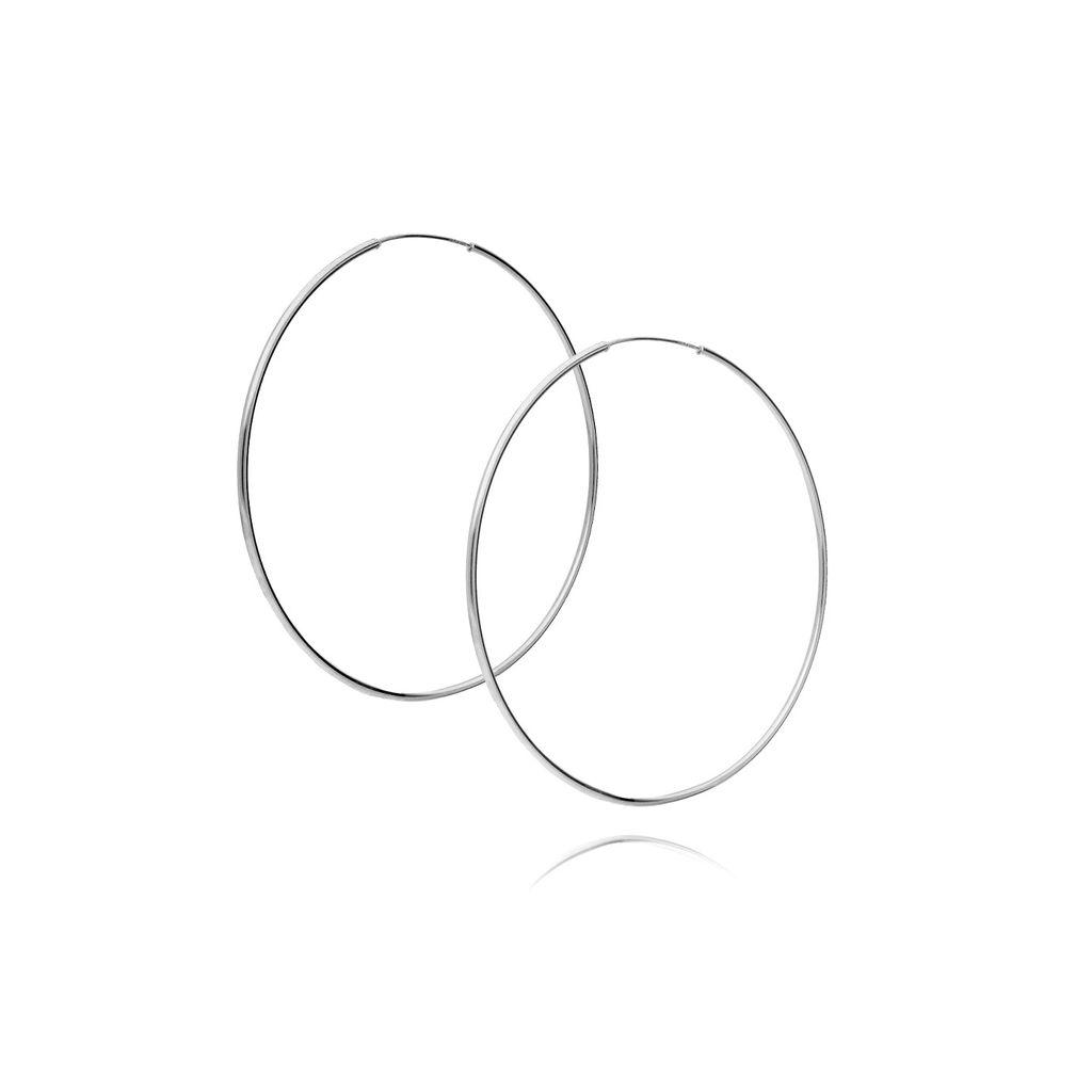 Kolczyki srebrne koła KSE0013 4,3cm