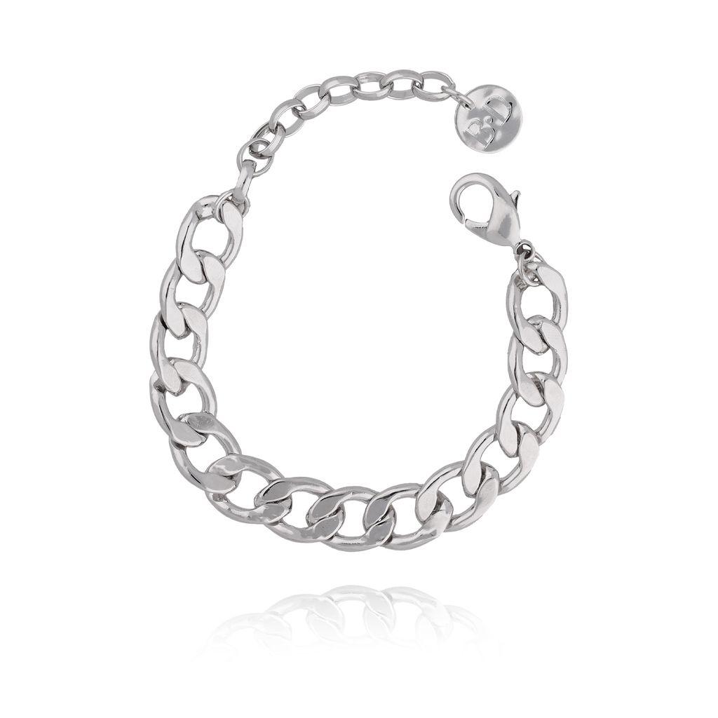 Bransoletka srebrny łańcuch gruby BRG0121