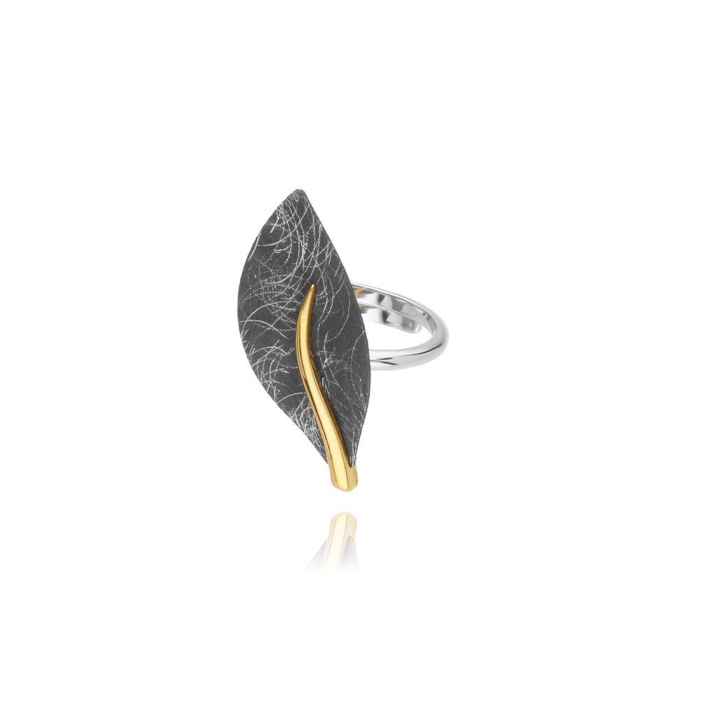 Pierścionek z tytanu - liść PLE0002