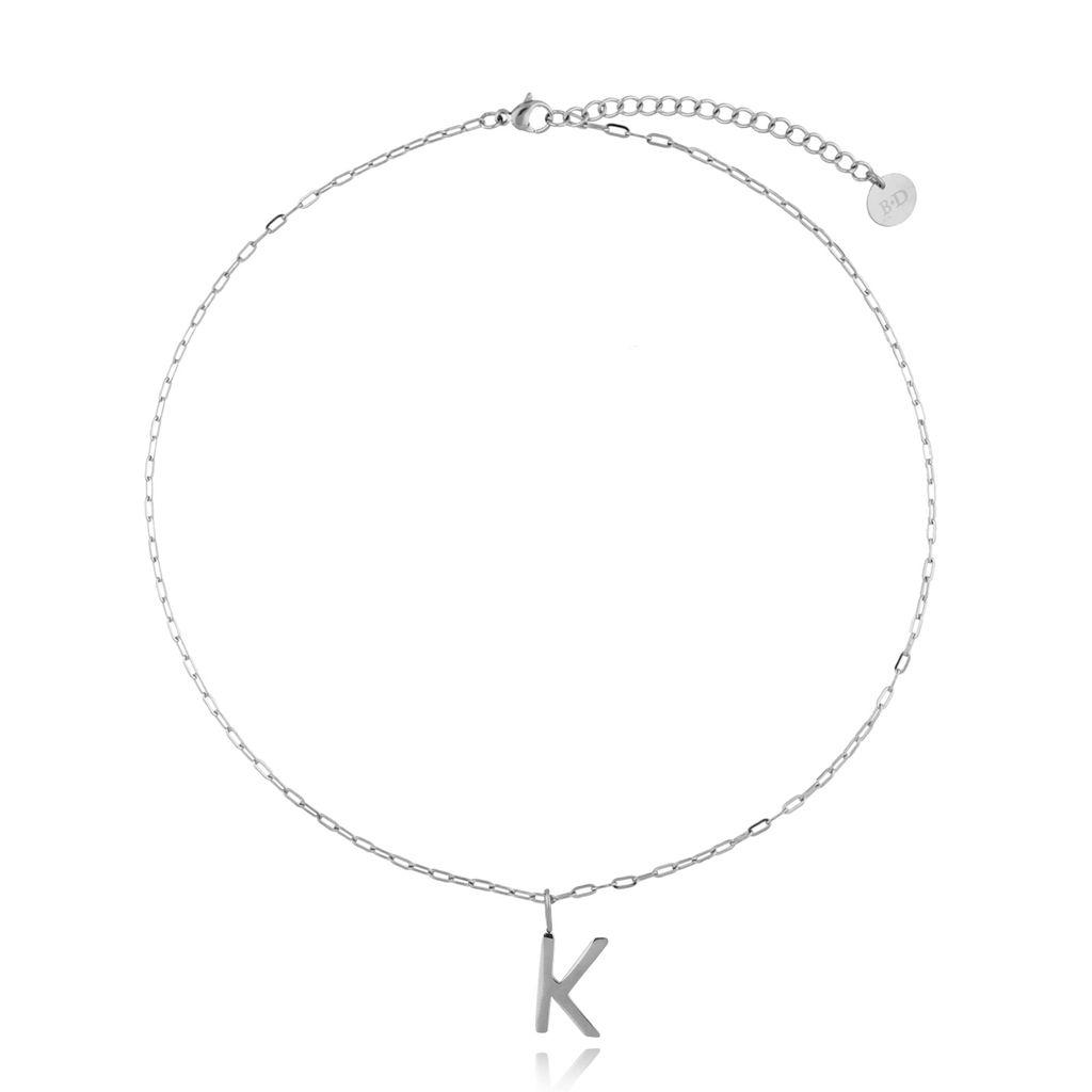 Naszyjnik srebrny z literką K NAT0199