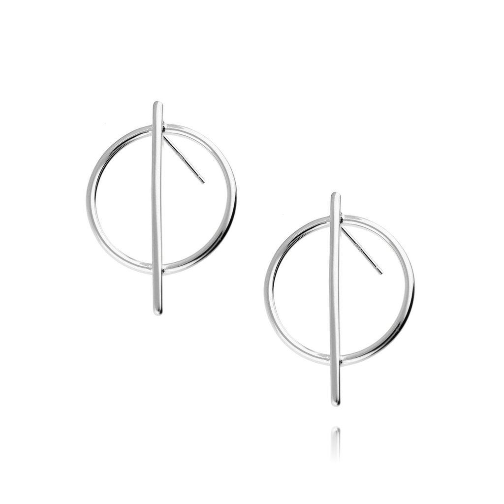 Kolczyki srebrne geometryczne KSE0032
