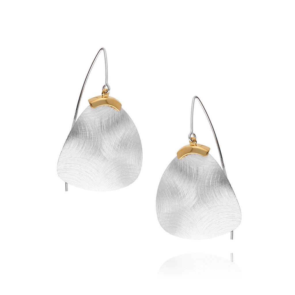 Kolczyki srebrne szczotkowane KLE0016
