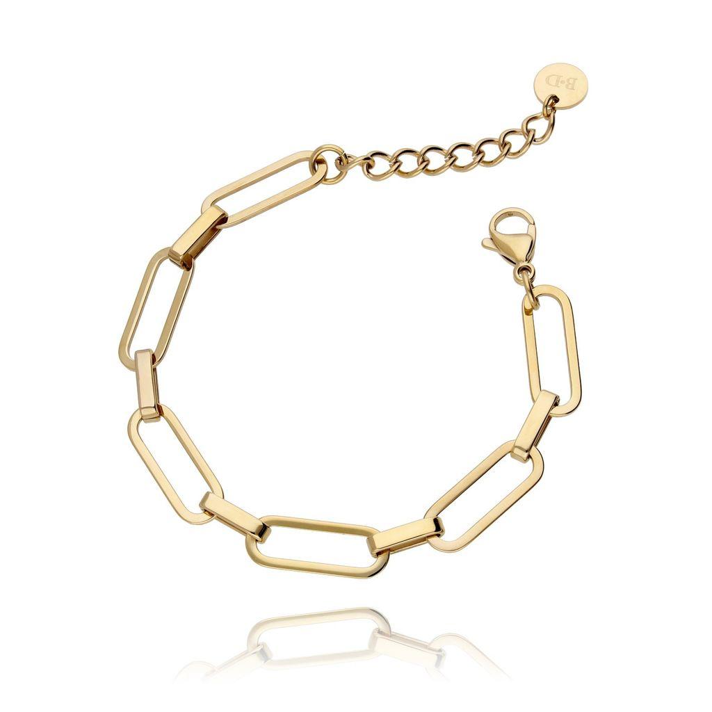 Bransoletka złoty łańcuch ze stali szlachetnej BSA0002