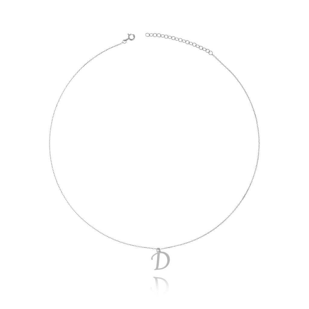 Naszyjnik srebrny  z literką D NAT0146