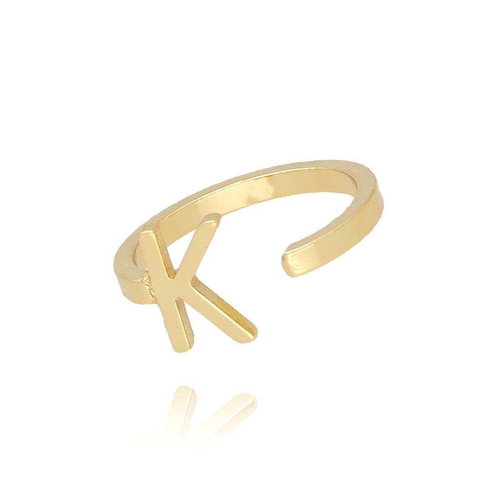 Pierścionek złoty literka K PAT0016