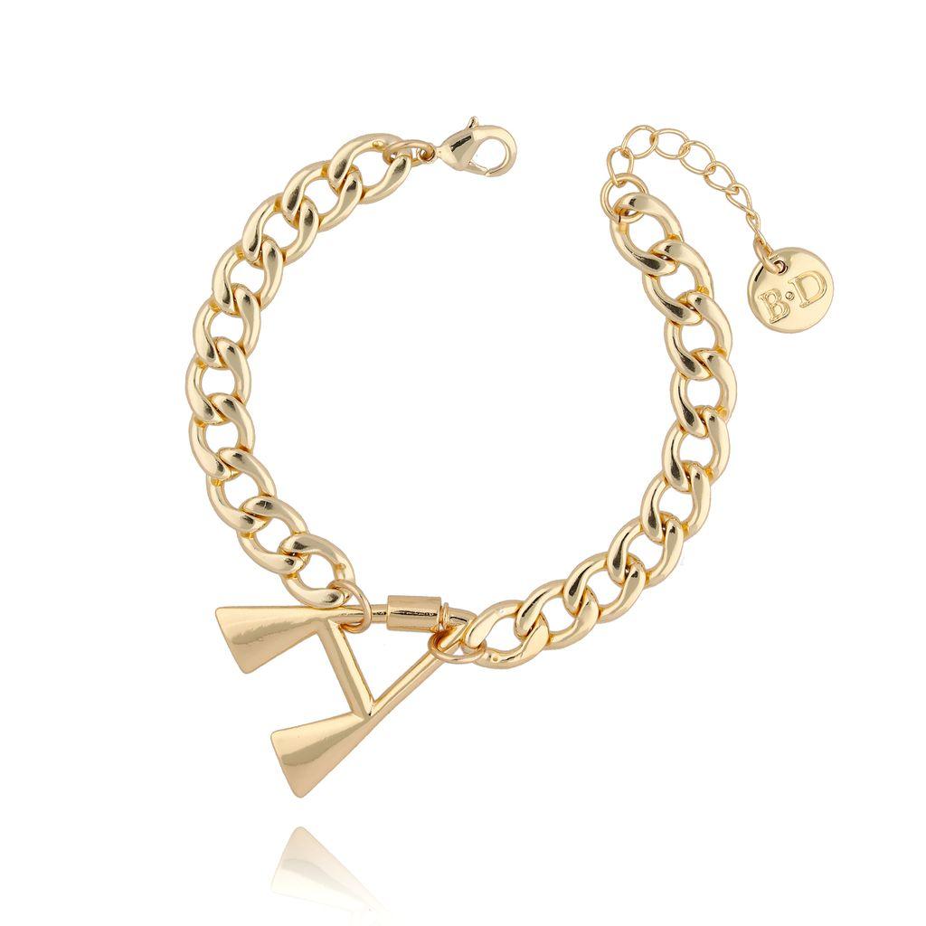 Bransoletka złoty łańcuch z literą A BSL0013