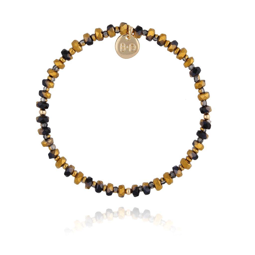 Bransoletka z brązowo czarnymi kryształkami BTW0248