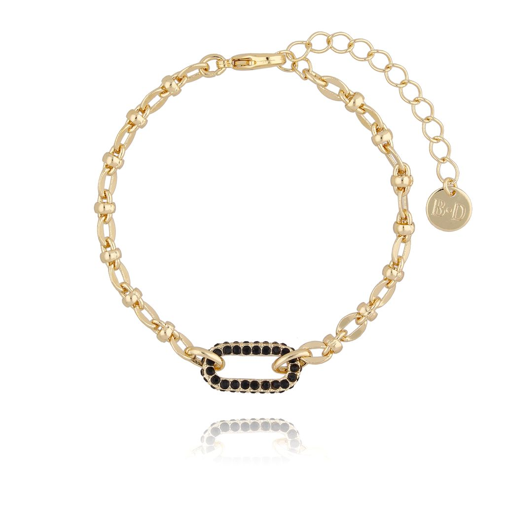 Bransoletka złota z ozdobnym elementem BRG0136