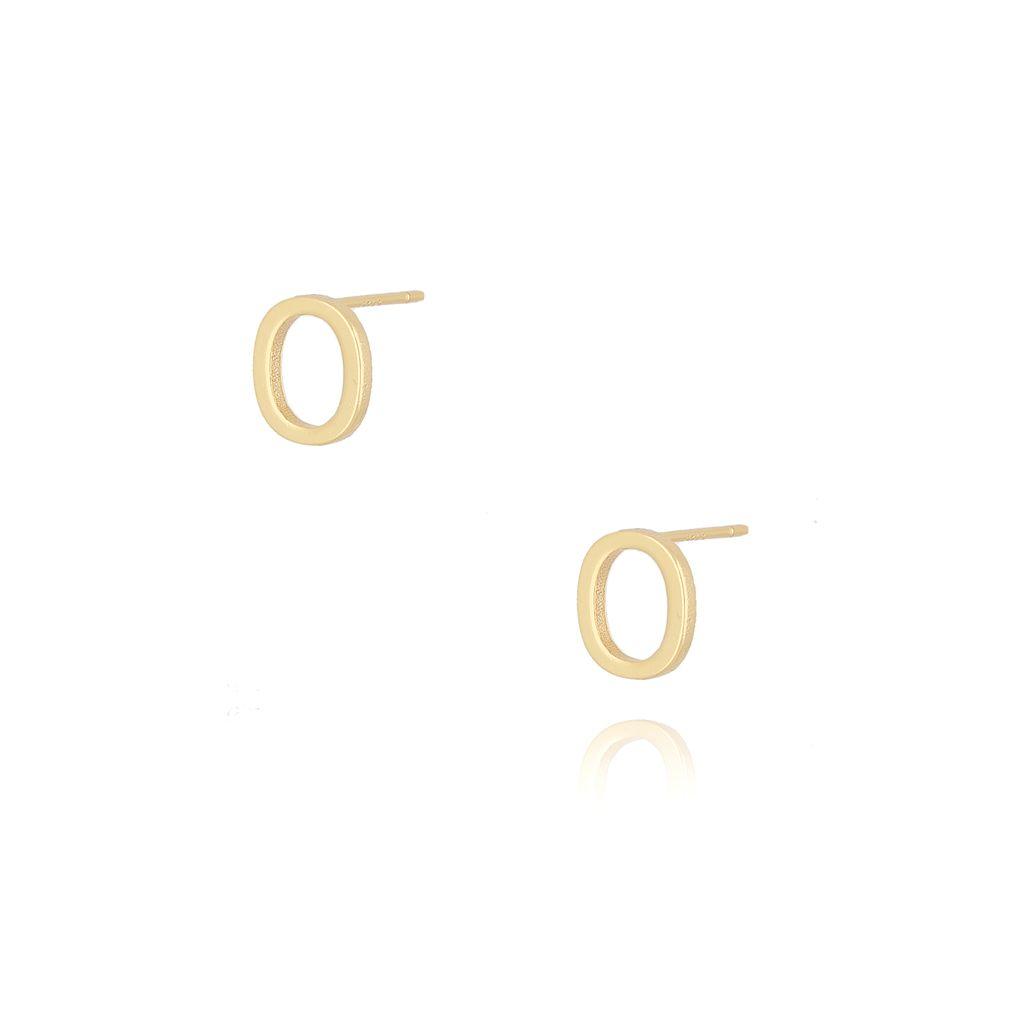 Kolczyki wkrętki z literką O złote KAT0021